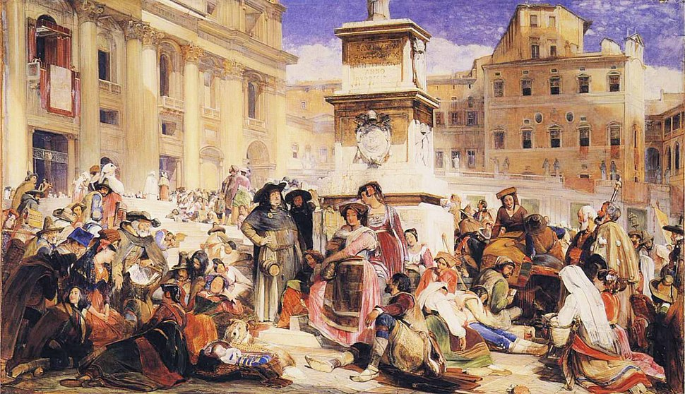 John Frederick Lewis - Easter Day at Rome