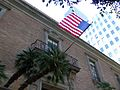 Jonathan Club building in Downtown Los Angeles with US flag.jpg