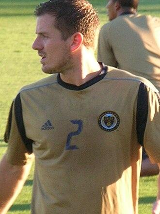 Jordan Harvey - Jordan Harvey playing for Philadelphia Union in 2010