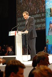 José Luis Rodríguez Zapatero - Royal & Zapatero's meeting in Toulouse for the 2007 French presidential election 0217 2007-04-19.jpg