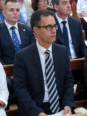 Joseph Garcia (Gibraltarian politician) - Image: Joseph Garcia en la toma de posesión de Carmelo Zammit del cargo de Obispo de Gibraltar