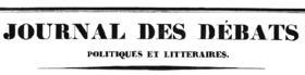 Image illustrative de l'article Journal des débats