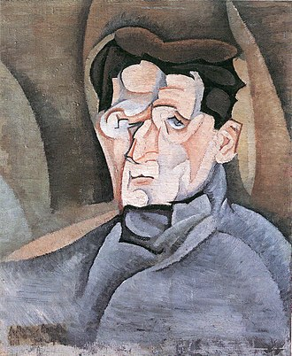 Maurice Raynal - Portrait of Maurice Raynal (1911), by Juan Gris.