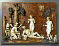 Judgement of Paris by Monogrammist BG, c. 1530-1540, alabaster on a wooden panel - Bode-Museum - DSC03038.JPG