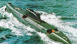 Juliett-class submarine - A Juliett-class submarine