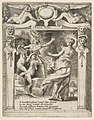 Juno frightened by the Furies, set within a decorative frame, from Amori sdegni et gielosie di Giunone (Loves, Rages and Jealousies of Juno) MET DP812645.jpg