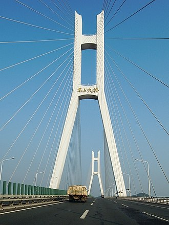 Caidian District - Image: Junshan Bridge 2
