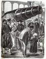 König Wilhelm und Otto von Bismarck bei der Krupp'schen Riesenkanone 1867.png