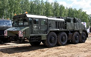Kurgan Wheel Tractor Plant - The wheeled recovery vehicle KET-T on KZKT-74281-012-chassis
