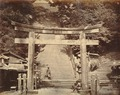 KITLV - 89932 - Beato, Felice - Gate and stairs at a temple in Sedo, Japan - presumably 1863-1865.tif