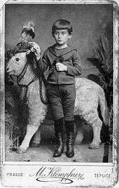 Kafka all'età di circa cinque anni