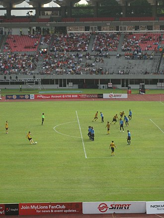 Former National Stadium, Singapore - One of the final football games played at Kallang, June 2007
