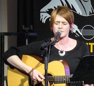 Karine Polwart - Polwart performing at the Tribute to Alistair Hulett concert at Celtic Connections, 28 January 2011