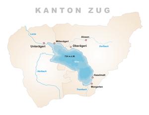 Karte Aegerisee