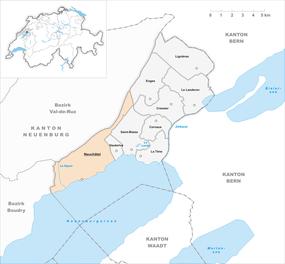Mapo de Neŭŝatelo