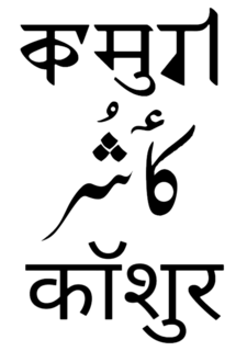 Kashmiri language Dardic language of Kashmir, South Asia