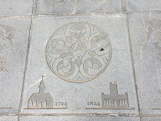 Kate Robinson (sculptor) - One of several floor etchings outsisde the Ramshorn Theatre in Glasgow