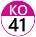 Keio KO41 station number.png