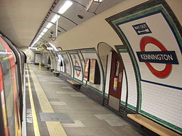 Kennington tube southbound Bank branch