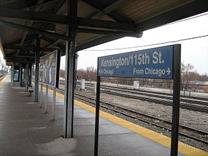 Kensington/115th Street station - Image: Kensington 115th Street Metra Station