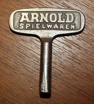Arnold (models) - Key for mechanical toys.