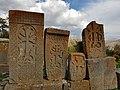 Khachkars near Makravank Monastery (11).jpg