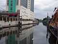Khlong next to Chaophya Park Hotel.JPG