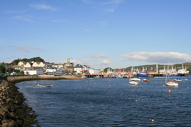 Killybegs is Ireland's most important fishing port; its harbor is often full with trawlers. Photo by Andreas F. Borchert.