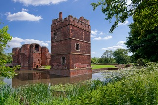 Kirby Muxloe Castle unfinished 15th century fortified manor house in Kirby Muxloe, Leicestershire, England