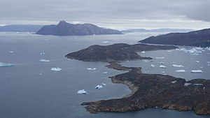 Kittorsaq Island - Aerial view of Kittorsaq Island