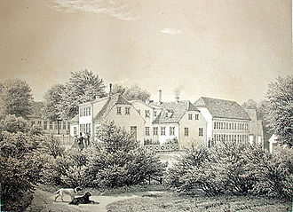 Ferdinand Richardt - Klintholm Manor, from Pictures of Danish Manors