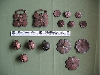 History of Christianity in Slovakia - Artefacts from the Avar cemetery at Komárno
