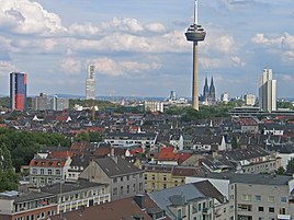 View of Cologne from the Helios Lighthouse