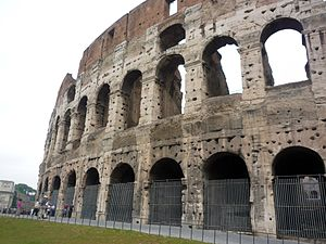English: Rome, the Coloseum, originally known ...