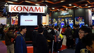 Konami - Konami Digital Entertainment booth at Taipei Game Show 2017.