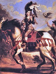 Louis XIV, king of France, child, hunting with falcon