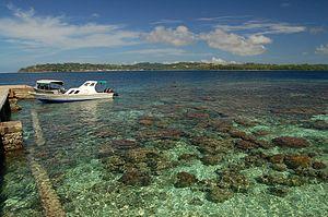 Korallenriff vor dem Flugplatz von Gizo