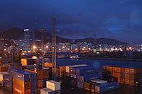 Korea busan pusan harbour cargo container terminal.JPG