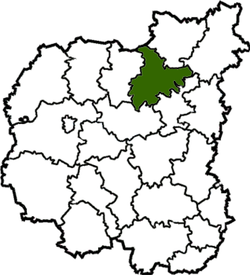 Location of Korjukivkas rajons