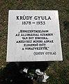Krúdy Gyula emléktábla, Damjanich utca, 2019 Kunszentmiklós.jpg