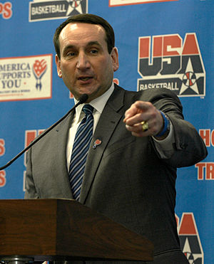 Tommy Amaker - After playing four years for Duke basketball, Amaker returned to serve on his former coach, Mike Krzyzewski's (pictured), Duke staff.