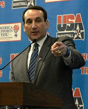 English: Mike Krzyzewski, USA Basketball Natio...