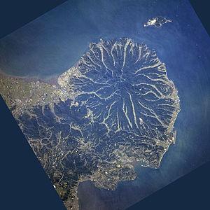 Kunisaki - Image: Kunisaki Peninsula STS068 253 7