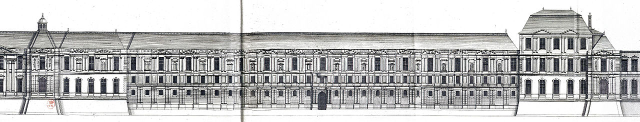File l 39 architecture fran aise marot bnf res v 371 173v for Porte francaise