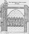 L'abbaye de Daoulas en 1875 Coupe longitudinale du porche des apôtres.jpg