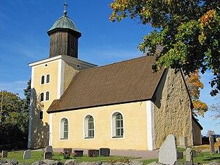 Läby Church church building in Uppsala Municipality, Sweden