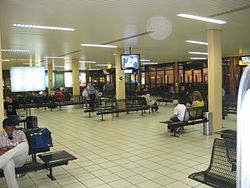 LBV Libreville international airport departure lounge.JPG