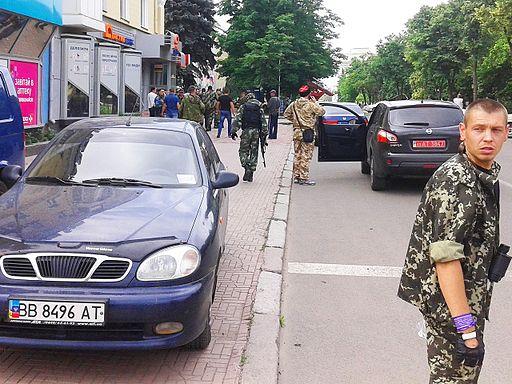 LPR fighters in Luhansk