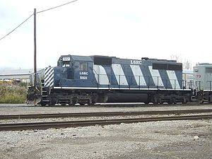 Lake State Railway - LSRC EMD SD40 5921 returning to the CSX McGrew yard in Flint, MI