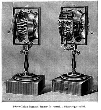 Charles-Émile Reynaud - Stereoscopic praxinoscope, 1908